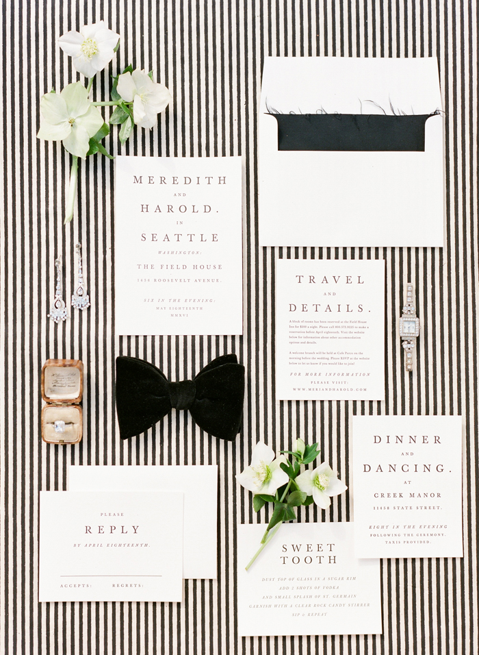 capricorn wedding stationery