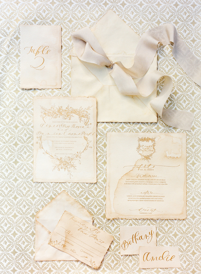 leo wedding stationery