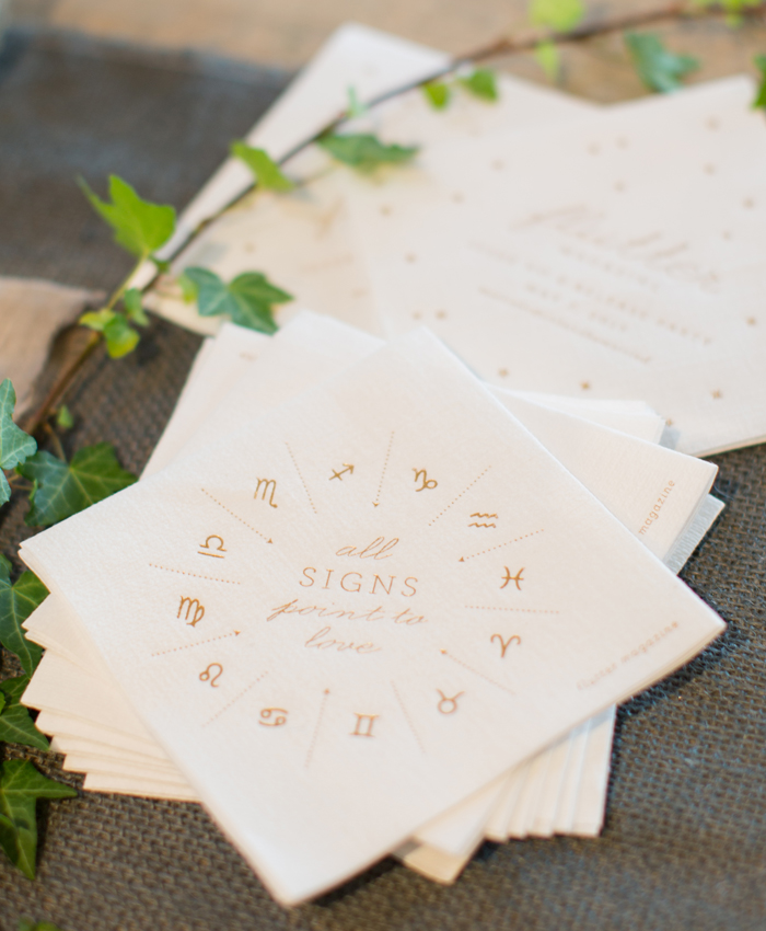 gold foil cocktail napkins by cheree berry paper
