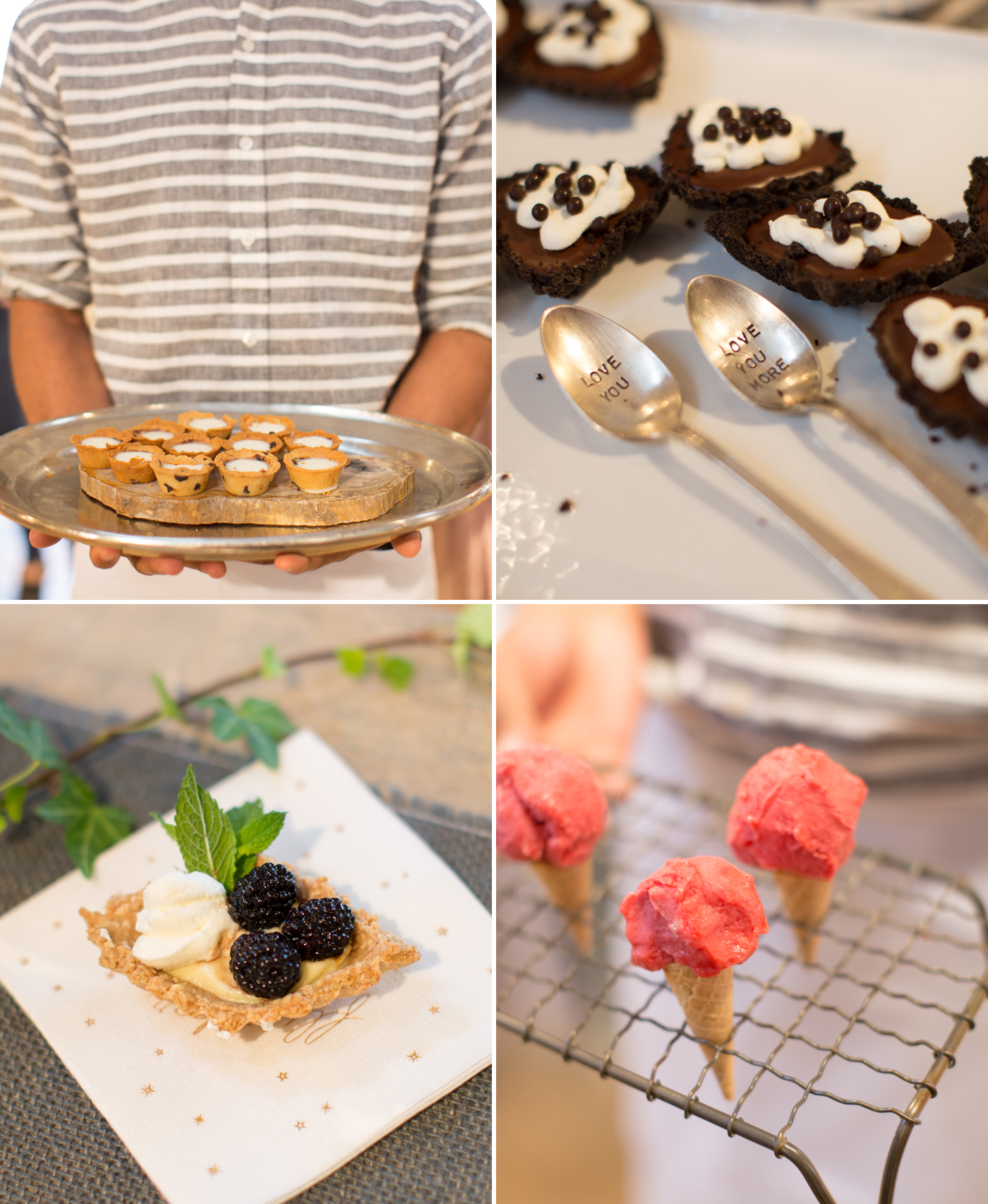 mini desserts by the kitchen for exploring foods