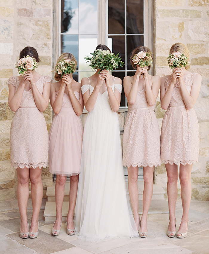 Jenny Yoo Pink Bridesmaid Dresses