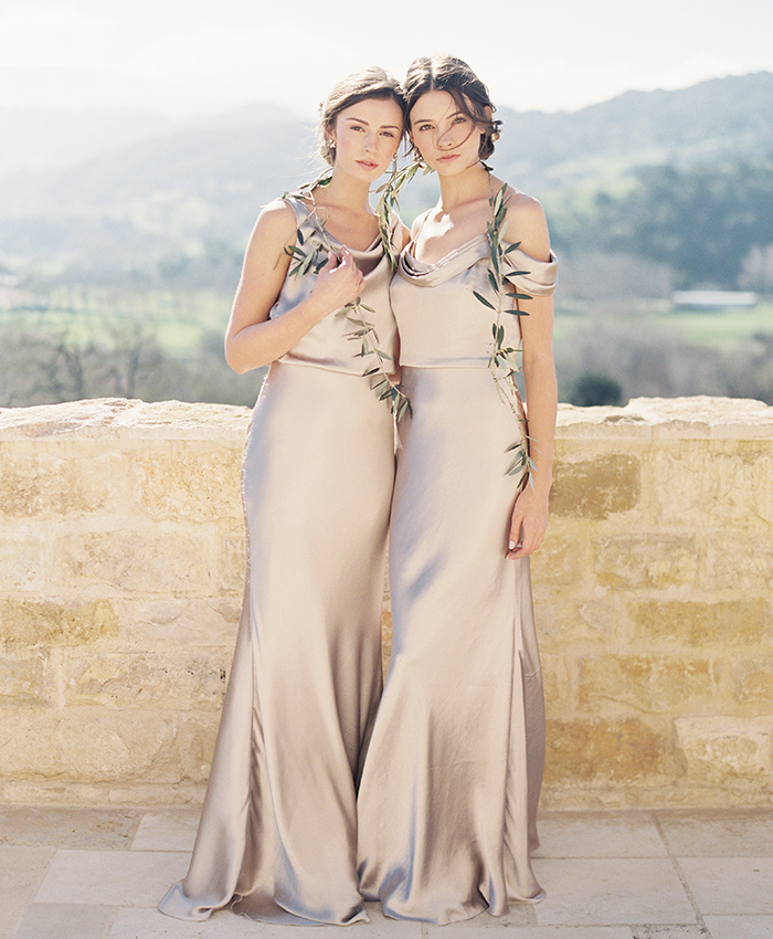 Jenny Yoo Metallic Bridesmaid Dress Sabine