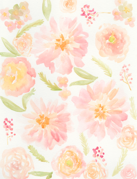 Flutter Watercolor Paper by Mary Phan