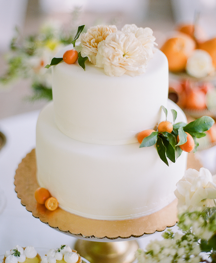 California Citrus Wedding Cake