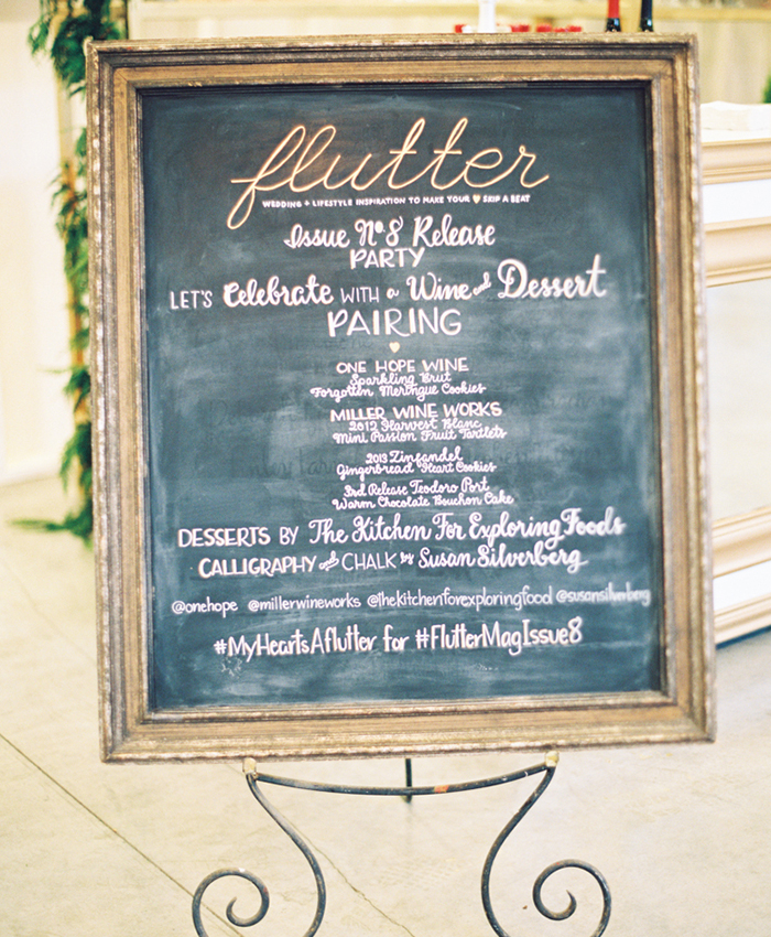 Flutter Magazine Party Susan Silverberg Calligraphy