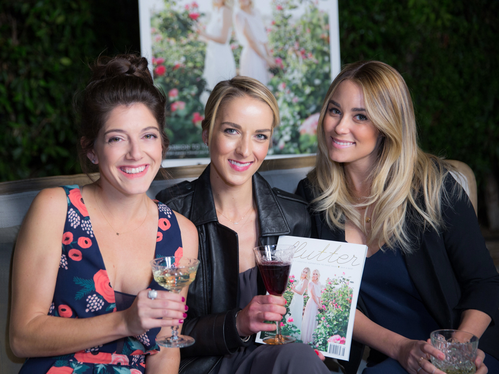 Flutter Magazine Party Lauren Conrad and Maura McManus