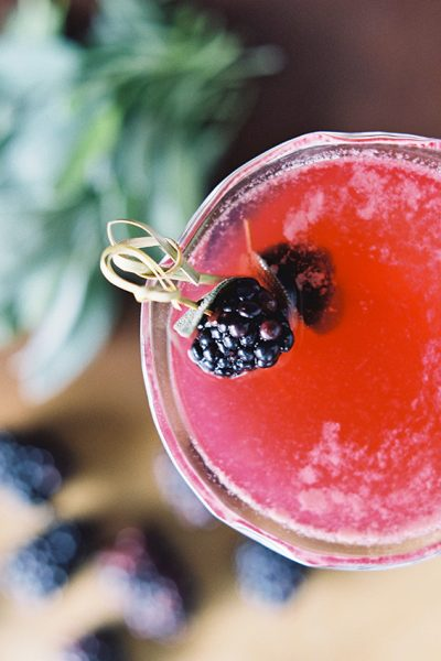 Sugared & Spiced: A Blackberry Cocktail Recipe