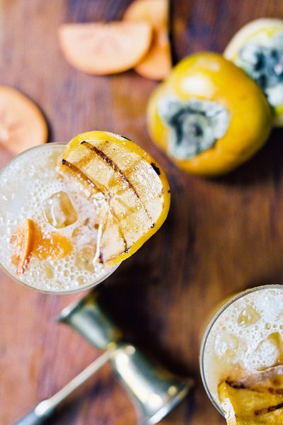 Sugared & Spiced: A Persimmon Cocktail Recipe