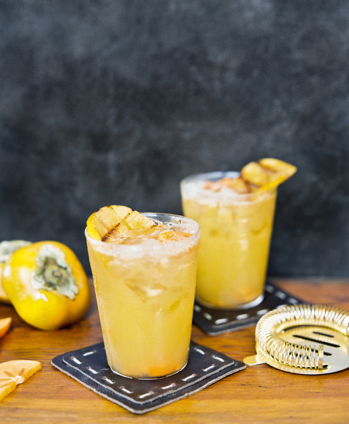 flutter magazine persimmon rum cocktail recipe