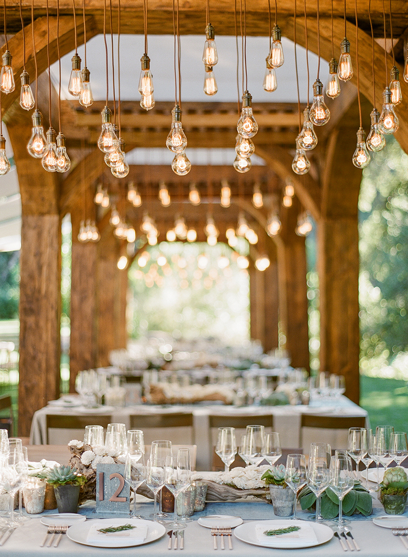 napa meadowood wedding tablescape