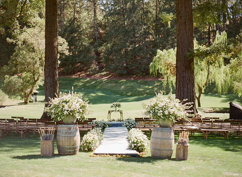 napa meadowood wedding ceremony