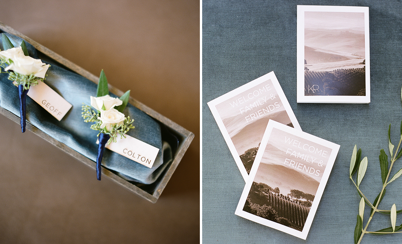 napa wedding programs