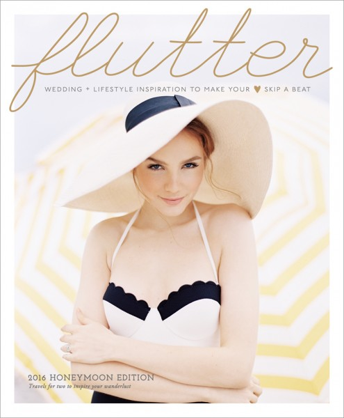 Flutter Magazine Issue No. 10 Honeymoon Edition Cover by Eric Kelley