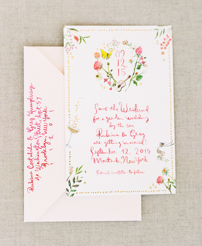 happy menocal custom watercolor wedding save the date