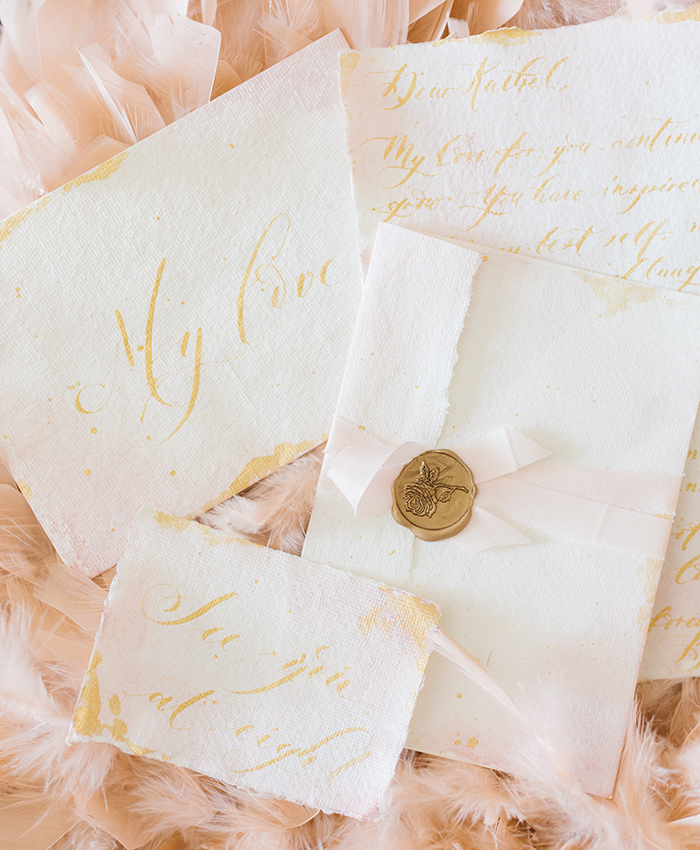 calligraphy love letters