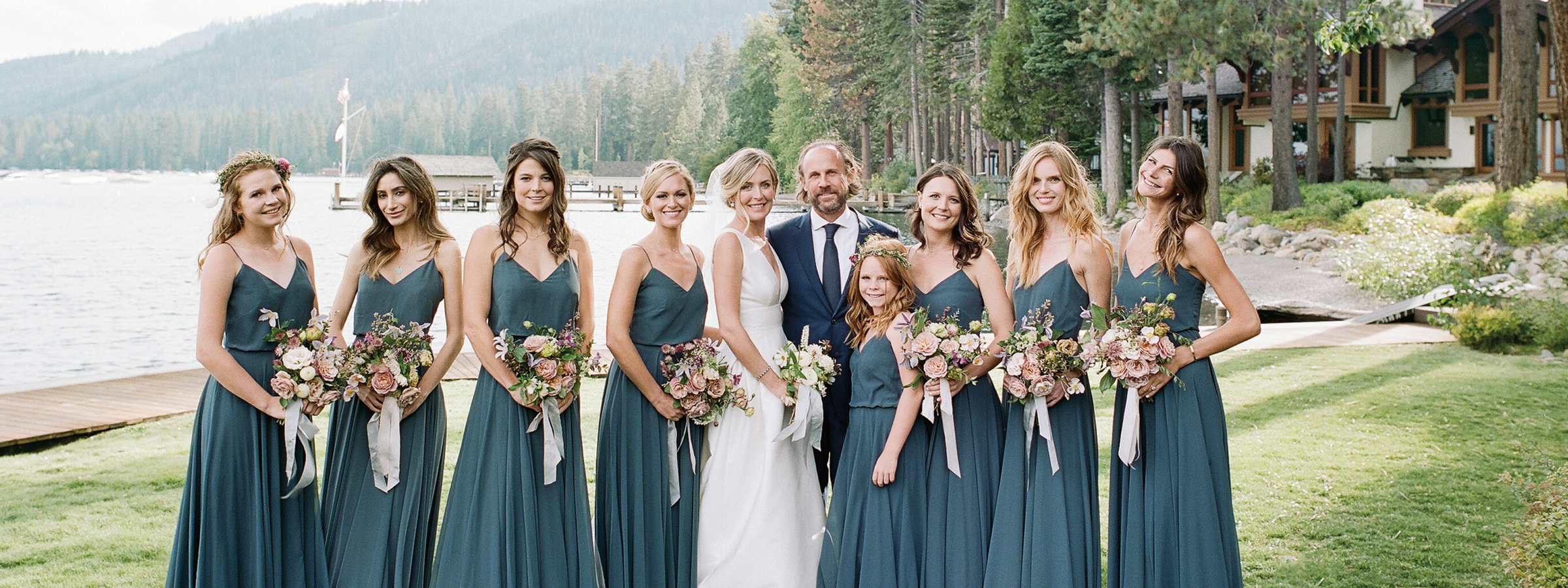 Flutter Magazine Issue 17 Lake Tahoe Fleur de lac estates wedding – Jenny Yoo bridesmaid dresses