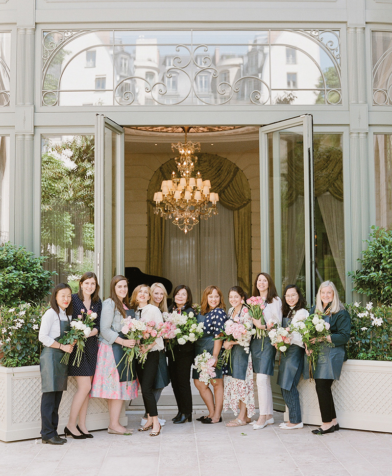 Flutter Magazine - Ritz Paris floral design class with Anne Vitchen