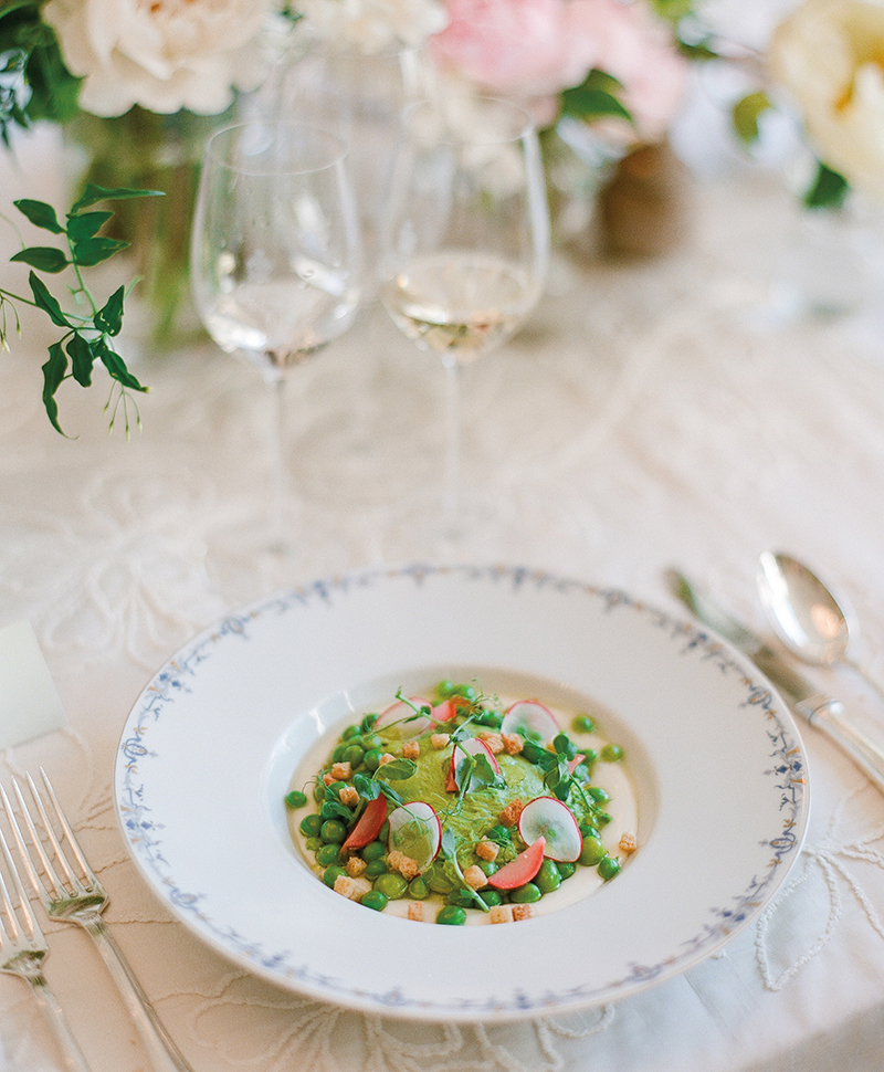 Flutter Magazine - ladies lunch at Ritz Paris Salon d'Été - green pea veloute soup