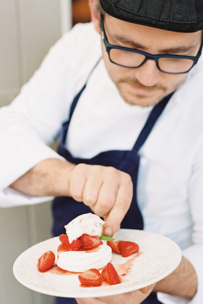 Flutter Magazine Strawberry Pavlova recipe with Provence Chef Brunet Frères