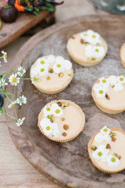 Grapefruit Tartlets with Chamomile Flower