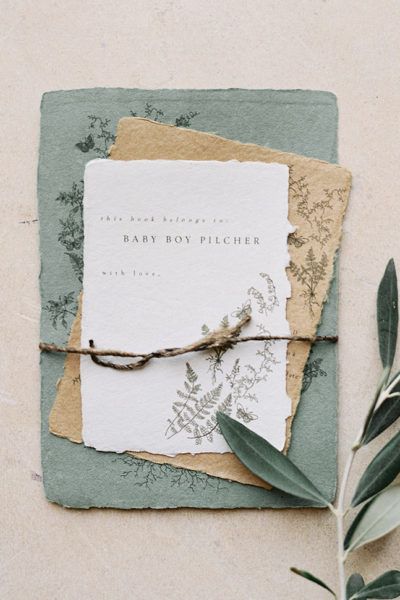Design House of Moira baby shower invitation