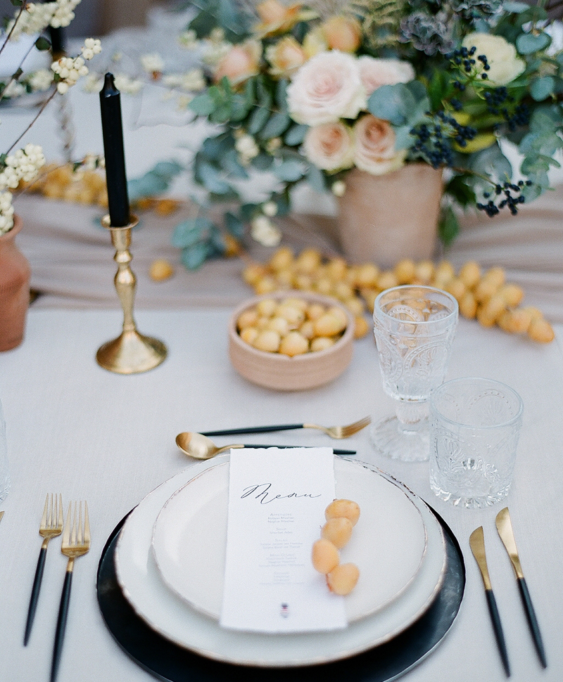 Dubai wedding tablescape