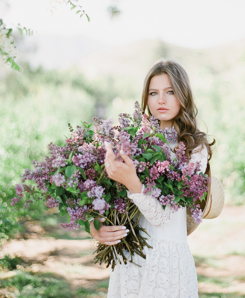 Flutter Magazine - lilac flower arrangements