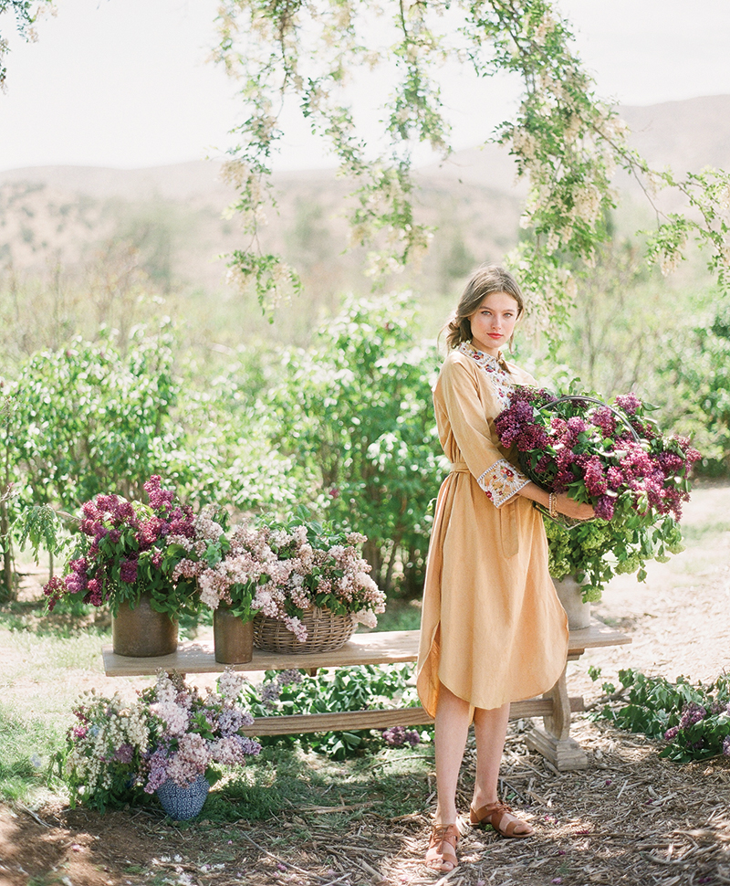 the art of arranging with lilacs