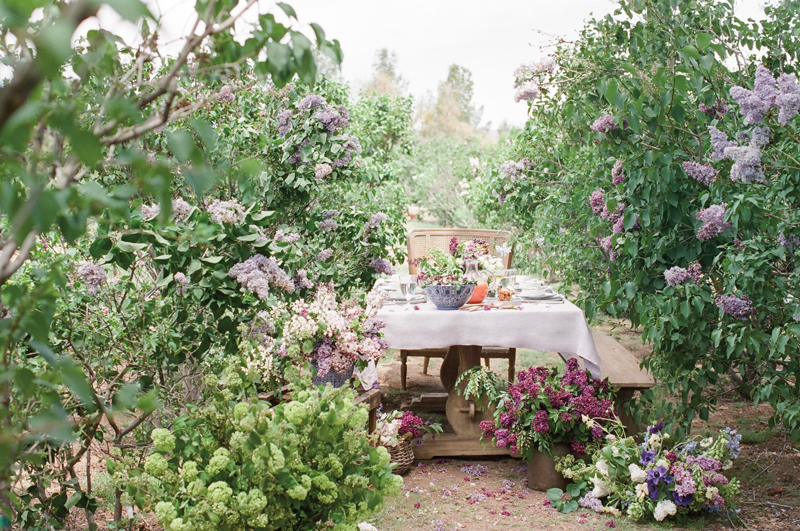 Flutter Magazine spring brunch at kilcoyne lilac farm