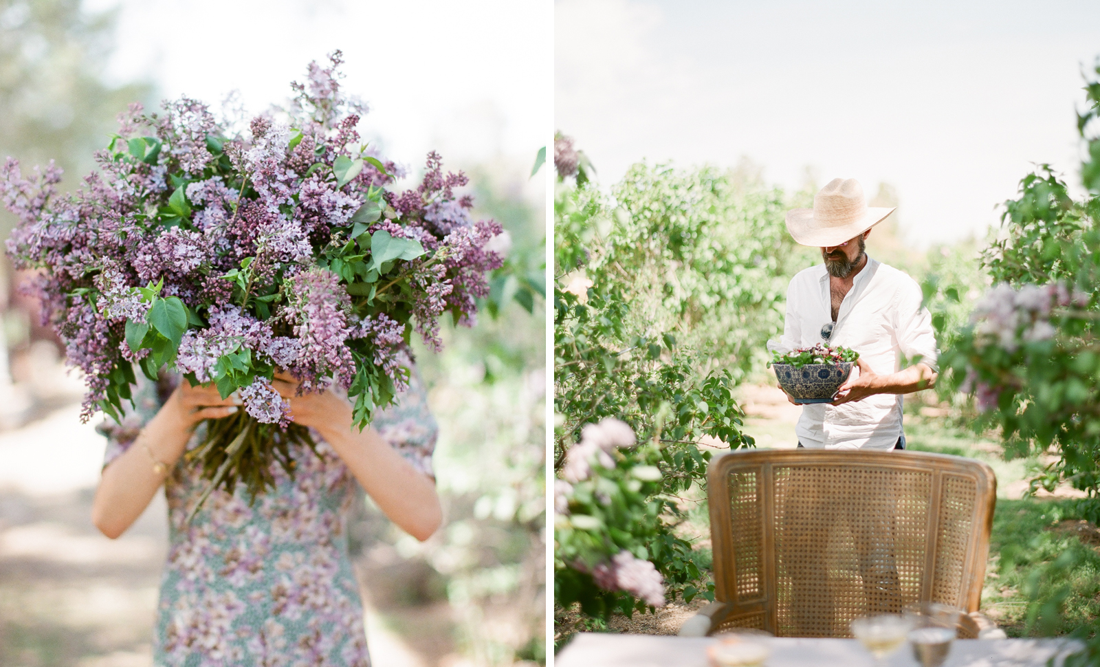 flutter magazine lilac flower farm brunch