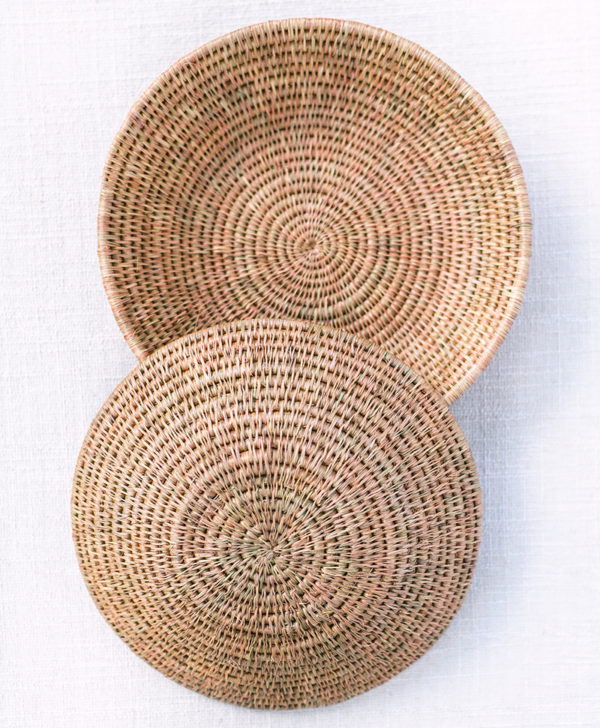 Handwoven fair trade basket